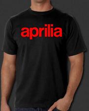 Aprilia Italian Racing Motorcycles Biker New Black T-shirt S-6XL