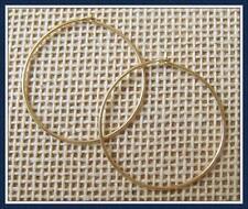LOT of 100 Pairs Gold Filled Hoop Earrings. Details below. Samples avail.(GFE27)