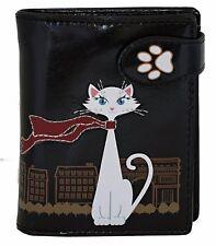 Shagwear Traveling Cats Short Faux Leather Bi-Fold Wallets (Choose Design)