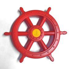 Steuerrad Schiff für Kinder Farbe rot Spielturmzubehör von Gartenpirat GP1641