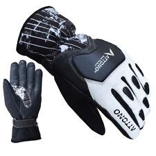 ATTONO Skihandschuhe Leder Softshell Ski Racing Snowboard Handschuhe