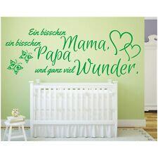 Wandtattoo Spruch  Ein bisschen Mama Papa Wunder Geburt Sticker Wandaufkleber 4