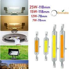 R7s J78 J118 25W 15W 12W 7W Dimmable LED COB Floodlight Glass Tube Lights AC56