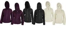 Weatherproof Women's Reversible Full Zip Hooded Polar Fleece&Faux Fur Jacket