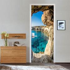 3D Ocean Cave 511 Door Wall Mural Photo Wall Sticker Decal Wall AJ WALLPAPER AU