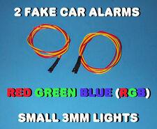 FAKE CAR ALARM LED LIGHT- 3mm RED / GREEN / BLUE  (RGB) 12v 24v  blink blinking