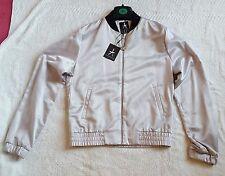 PRIMARK Womens Bomber Jacket Classic style ZipUp Vintage Stylish Coat size 6 & 8