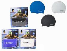 Intex Adulto Silicona De Alta Calidad Natación / - Azul, blanco o negro Gorra