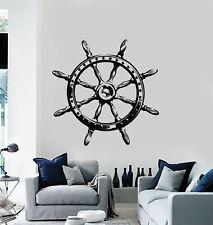 Vinyl Wall Decal Ocean Sea Style Steering Wheel Ship Anchor Stickers (g752)