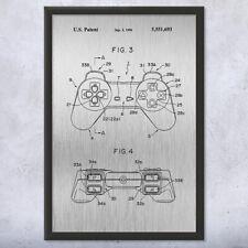 Framed Original Playstation PS1 Controller Art Print Gift Playstation Art