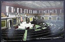 WASHINGTON D.C. ~ 1900's HALL OF REPRESENTATIVES