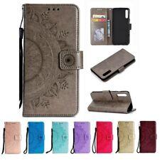 Samsung Galaxy A70 Handy Hülle Schutz Tasche Flip Case Etui Cover Mandala