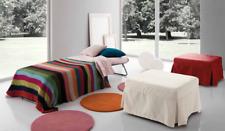 pouf trasformabile in letto divano tessuto imbottito rete materasso sedute letto