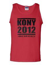Stop Joseph Kony 2012 Make Him Visible Novelty Statement Graphics Adult Tank Top