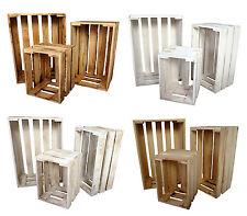3er Set Dekokisten aus Holz Holzkiste Weinkiste Allzweckkiste Truhe Holzbox (9)