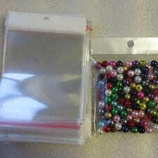 100 - 1000 bags self adhesive seal clair transparent emballage solide 11 x 9cm