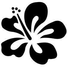 Sticker Fleur d'Hibiscus de 5x5cm à 30x30cm Tailles et Coloris Divers (FLEUR025)