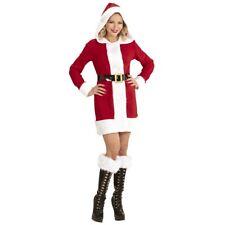WEIHNACHTSMANN FRAU KOSTÜM Damen Nikolaus Weihnachtsfrau Santa Claus Kleid 1493