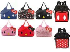Minnie Micky Hello Kitty Multi Function Nylon Travel  Bag UK Seller