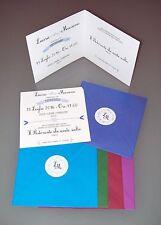 PARTECIPAZIONI MATRIMONIO NOZZE vintage con cuore - cartoncino bianco ruvido