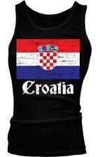 Croatia Flag Text Croatian Pride Hrvatska Zastava Ponosa Boy Beater Tank Top