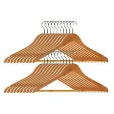 Perchas De Madera Abrigo Traje Prenda Ropa Percha armario de madera conjunto de Barra del pantalón