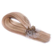 Micro-Ring Loop #12/613 GESTRÄHNT Hair Extensions Remy Echthaar Haarverlängerung