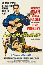 """""""LOVE ME TENDER """" ELVIS PRESLEY 1956 Retro Movie Poster A1A2A3A4Sizes"""