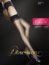 "Fiore obsesión Sheer ""Justine"" Medias 20 Denier Suspensor De Medias"