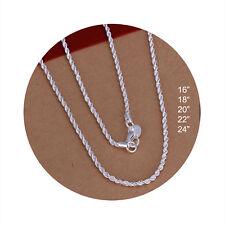 Men's Women's Unisex 925 Sterling Silver Necklace B33