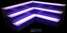 Armana Acrylic Corner Tier Led Lighted Liquor Shelf Display 4�H x 4.5�D New
