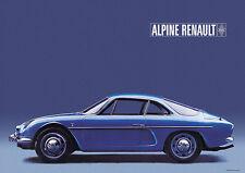 Renault Alpine A110 Berlinette Classic Car Poster Prints A1