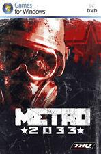Metro 2033 (PC DVD), Windows Vista, Windows XP, PC | 4005209130707 | Acceptable