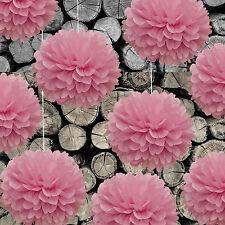 DIY PomPoms 10er Set 30cmØ,Hochzeit,Papierblume,PomPon aus Seidenpapier in rosa