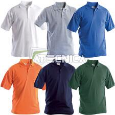 Polo manica corta colorata AERRE t-shirt uomo cotone 190gr traspirante 3 bottoni