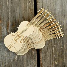 10x in legno Strumento Musicale Violino Forme Artigianato 3mm Legno Compensato Hobby MUSICA
