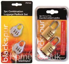 2 X COMBINATION LOCK SAFTY & SECURITY LUGGAGE TRAVEL BAG SUITCASE PADLOCK LOCKER