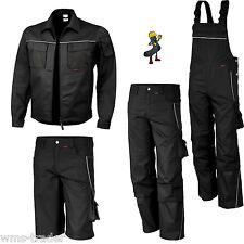 Arbeitslatzhose Arbeitshose Arbeitsjacke  Arbeitsbekleidung schwarz Übergröße