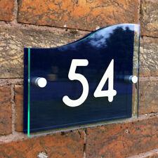 Hausnummer Hausnummernschild Design mit Wunschnummer Straßenname TÜRSCHILD NAMEN