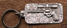 Empire Pewter Scoped Revolver Keychain / Keyring