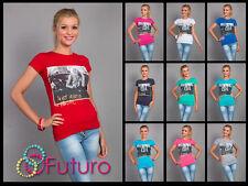 Mujer Top I'm not NEGATIVO Estampado Camiseta Manga Corta Tamaño 8-12 FB25