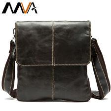MVA Messenger sac pour hommes en cuir véritable sac à bandoulière pour hommes