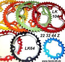 Aerozine cadenas hojas 22 32 44 64 104 chainring Shimano xt SLX cadenas hoja 9/10