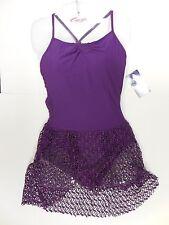 NWT CAPEZIO MESH SKIRTED Leotard Pleated SYNERGY GRAPE 10188 BALLET DRESS LADIES