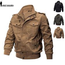 MA1 Flight Mens Bomber Jackets Fly Military Jacket Pilot US Army Air Force Coat