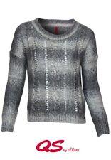 QS by s.Oliver Damen Pullover O-Neck | Rundhals Langarm Freizeit Outfit Clubwear