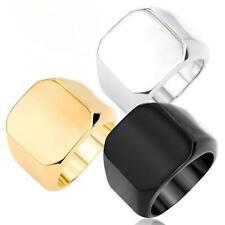 Anillo De Hombre Bañado en oro 750 18 Quilates Oro Amarillo Plata Negro r2461