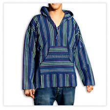 Poncho Jacket Assorted Colors Hoodie Shirt Reggae Baja Hippie 100% Cotton BOHO