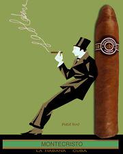 Quality Tobacco POSTER.Cuban Cigar.Montecristo.Havana Cuba.Room home decor.q0089