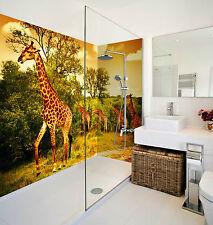 3D Forest Giraffes 079 WallPaper Bathroom Print Decal Wall Deco AJ WALLPAPER CA